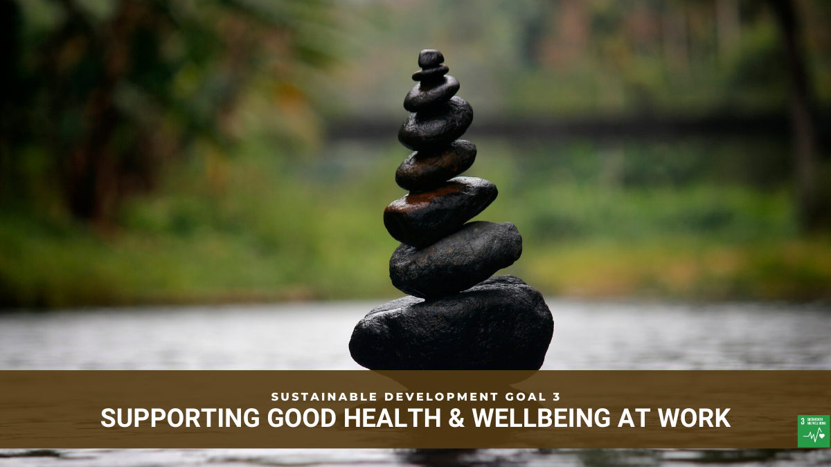SDG3 Business Support for Good Health and Wellbeing