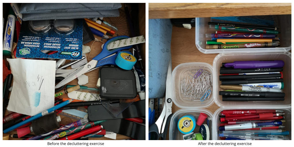 Organising a drawer