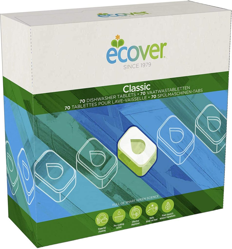Ecover dishwasher tablets for your zero waste kitchen