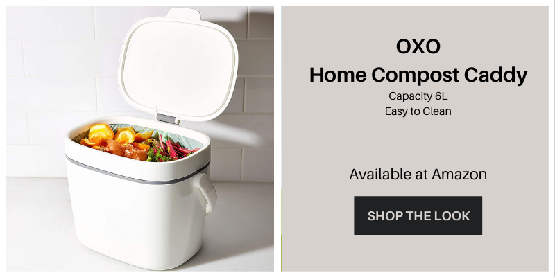 OXO kitchen compost caddy