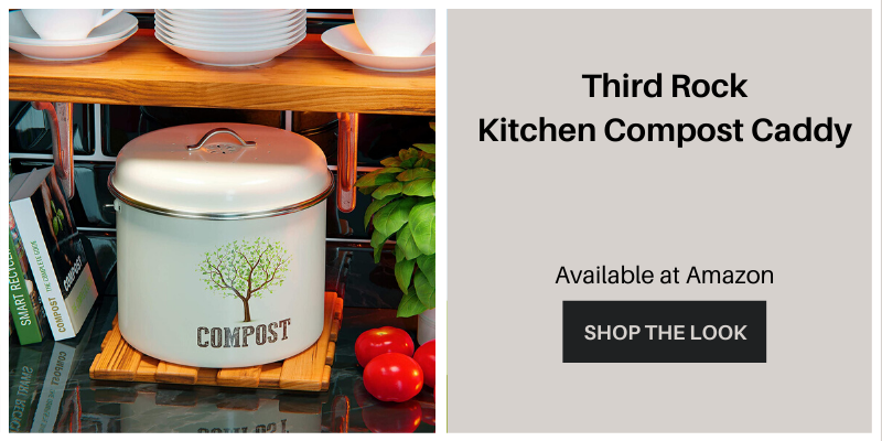 Third rock kitchen compost caddy