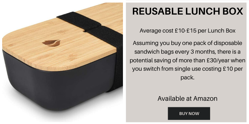 Reusable lunch box to reduce plastic waste