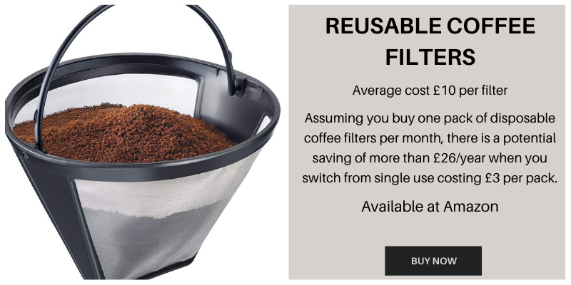 Reusable coffee filter to save money