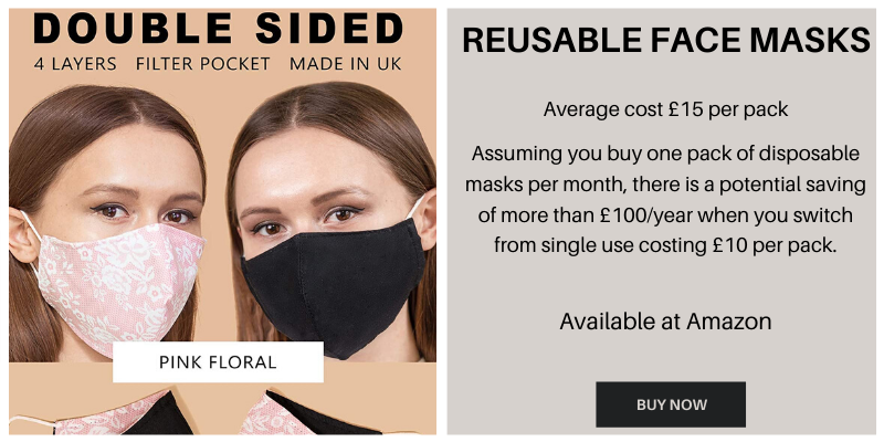 Reusable face masks to save money